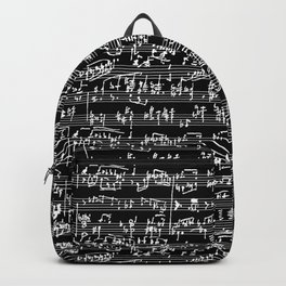 Hand Written Sheet Music // Black Backpack