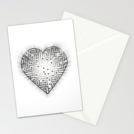TechHeart (Silver) Stationery Cards