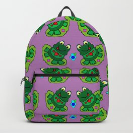Frogs on Lily Pads Violet Backpack