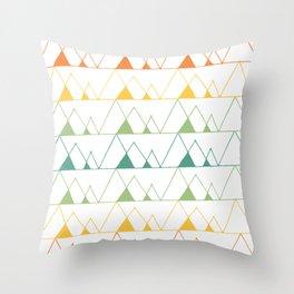 Mountains - Colour Throw Pillow