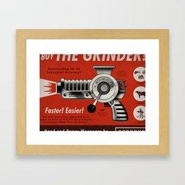 The Grinder (Ad) Framed Art Print