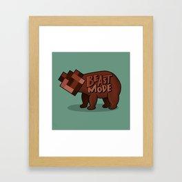 Beast Mode GREEN Framed Art Print