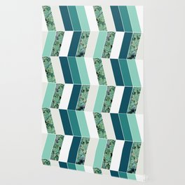 Teal Herringbone #society6 #teal #succulent Wallpaper