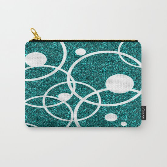 Circles on Black and Blue Carry-All Pouch