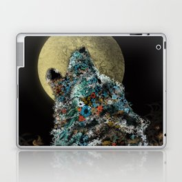 floral animals howling wolf Laptop & iPad Skin