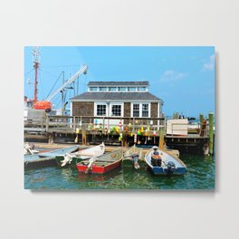 Plymouth Boat House Metal Print