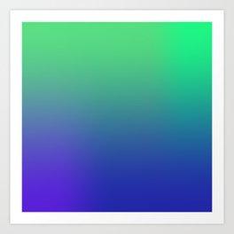 Green Blues Art Print