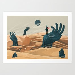 The wanderer and the desert portals Art Print