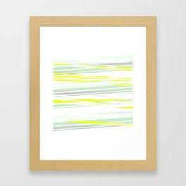 lemon grass / light Framed Art Print