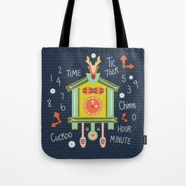 Tic Tock Cuckoo Clock Tote Bag