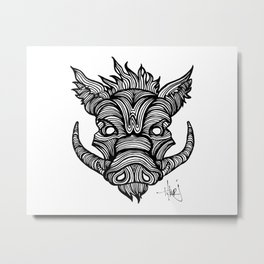 The Razorback Metal Print
