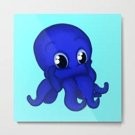 Octobaby Blue Metal Print
