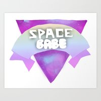 Space Babe Art Print