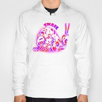 snail Hoodies featuring Snail by VirgoSpice