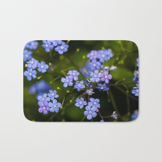 Purple flower Bath Mat