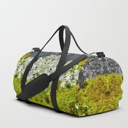 Tree Bark with Lichen#8 Duffle Bag