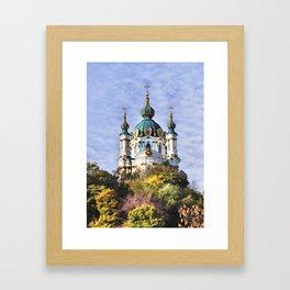 St Andrew's Church, Kiev Framed Art Print