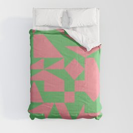 English Square (Pink & Green) Comforters