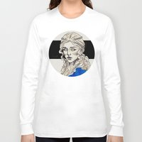 mother of dragons Long Sleeve T-shirts featuring Mother Of Dragons by Fatma Sahem