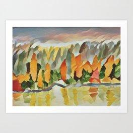 Autumn Shoreline Ontario, Canada Art Print