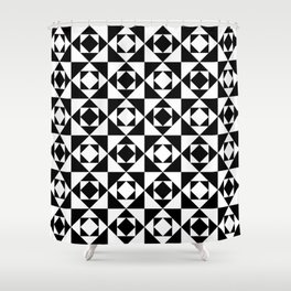 Squares in Squares Shower Curtain