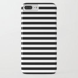 Stripe Black & White Vertical iPhone Case