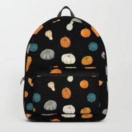 Halloween Pumpkins & Gourds - black palette Backpack