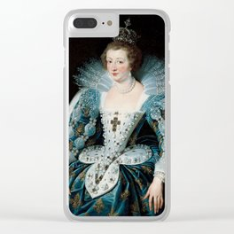 Royal Portrait Queen Anna Clear iPhone Case