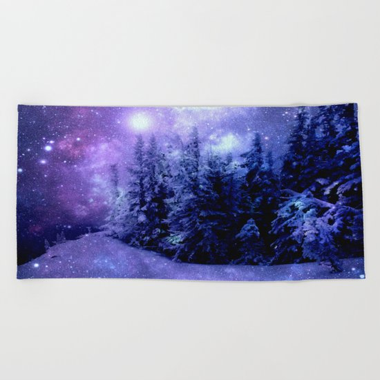 Galaxy Forest Beach Towel