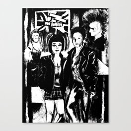 Alternative fashion and leather jacket style at the club Canvas Print
