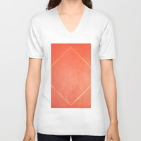 wooden V-neck T-shirts featuring Wooden Rhombus by Margheritta