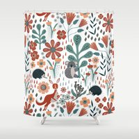 australia Shower Curtains featuring Australia by Mel Armstrong