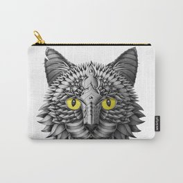 Ornate Black Cat Carry-All Pouch