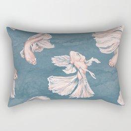 Blushing Bettas Rectangular Pillow