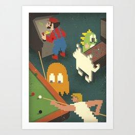 Retro Games Art Print