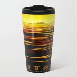 Titan : NASA Retro Solar System Travel Posters Travel Mug