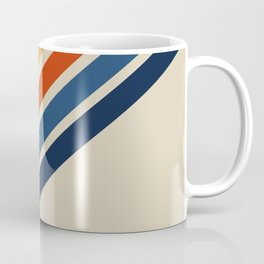 Rainbow 70s 60s Stripe Colorful Rainbow Tan Retro Vintage Coffee Mug