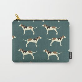 Tree Walker Coonhounds in Green Carry-All Pouch