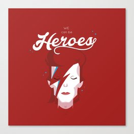 bowie forever red Canvas Print