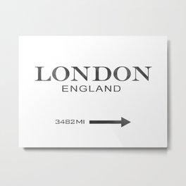 watercolor London England Metal Print