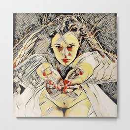 4448s-AB The Succubus Dreams of You Erotic Art in the style of Kandinsky Metal Print