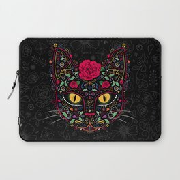 Day of the Dead Kitty Cat Sugar Skull Laptop Sleeve