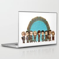 stargate Laptop & iPad Skins featuring Cast of Stargate Atlantis by Ravenno