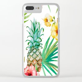 Pineapple Mood Clear iPhone Case