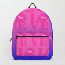PINK BLUE WEIM LOVE Backpack
