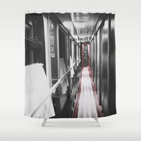 train Shower Curtains featuring Train by Lama BOO