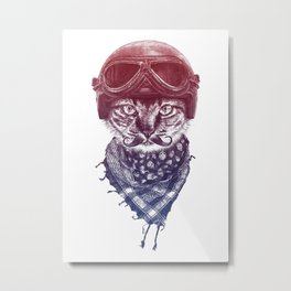 Don't Pussy Me (Red to Blue) Metal Print