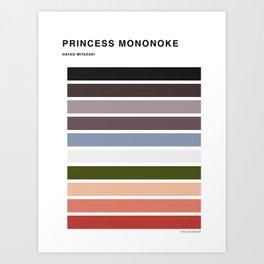 The colors of - Princess Mononoke Art Print