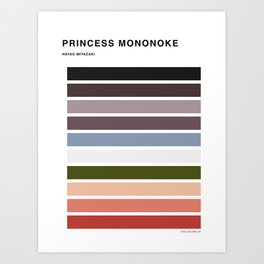 The colors of - Princess Mononoke Art Print