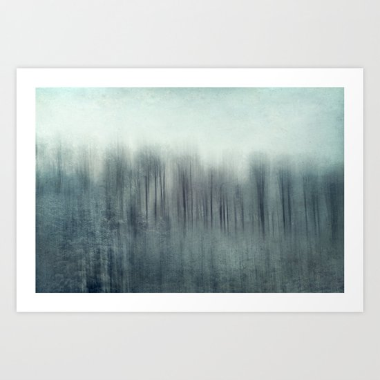 winter forest abstract Art Print